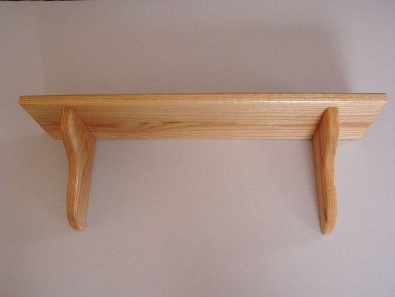 24 Inch X 8 Inch Deep Wall Shelf Wood Display Wooden Wall Shelves Wood Wall Shelf Wood Shelf Brackets