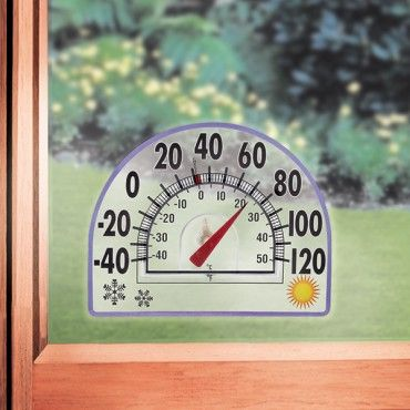 All Season Window Thermometer lets you easily see outside temperature from inside. Get it at Dream Products.