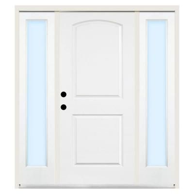 Steves U0026 Sons Premium 2 Panel Camber Top Primed White Steel Entry Door With  12 In