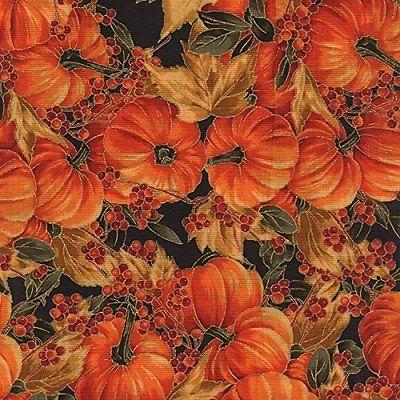 Hoffman Maple Lane Black Gold Pumpkins