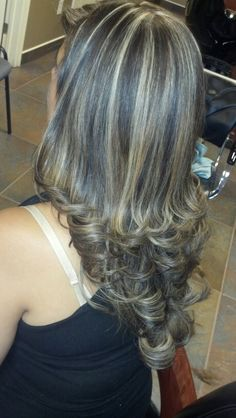Dark Brown Base With Dark Beige Highlights Hair Beauty