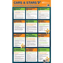 Poster Cars Stars 12 Reading Strategies 610 X 1000mm
