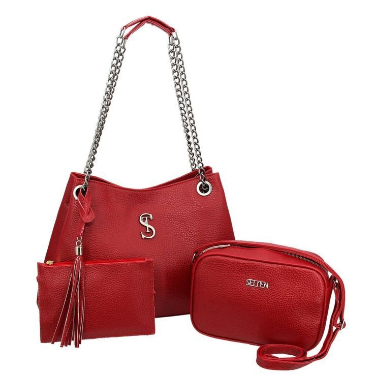 Kit de bolsa de hombro grande con bolsa roja pequeña Selten  #Bolsa #grande #ki…