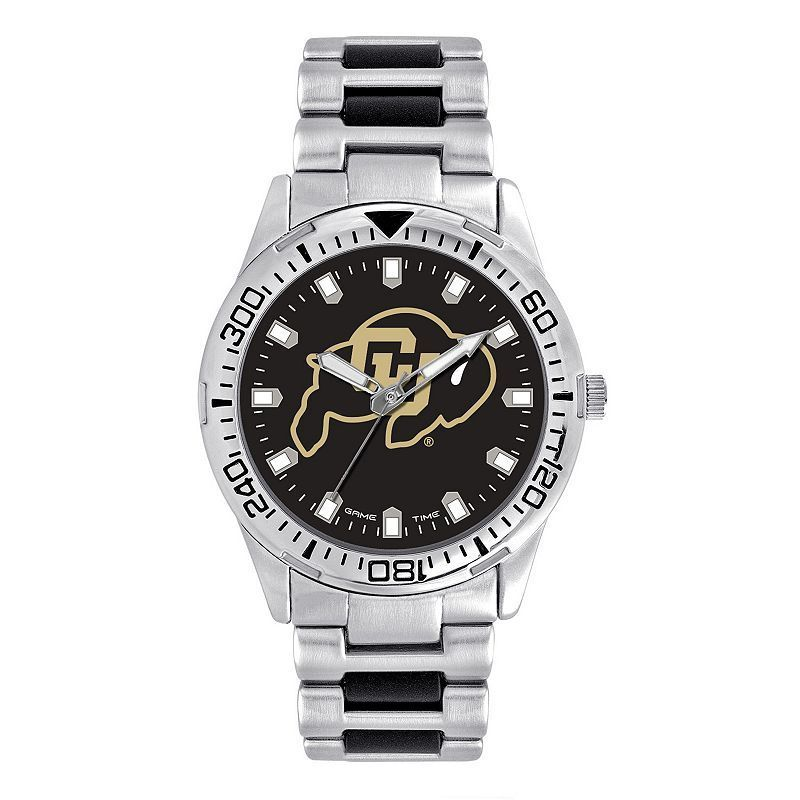 Men's Game Time Colorado Buffaloes Heavy Hitter Watch, Silver