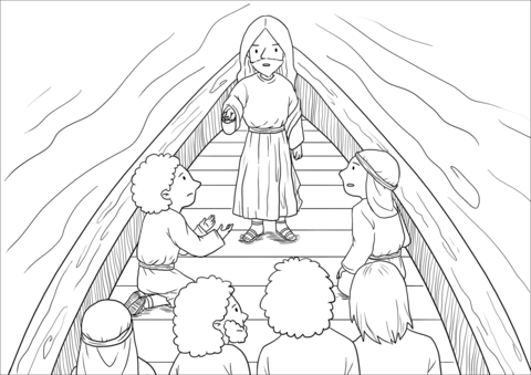 14++ Coloring page jesus calms the storm info