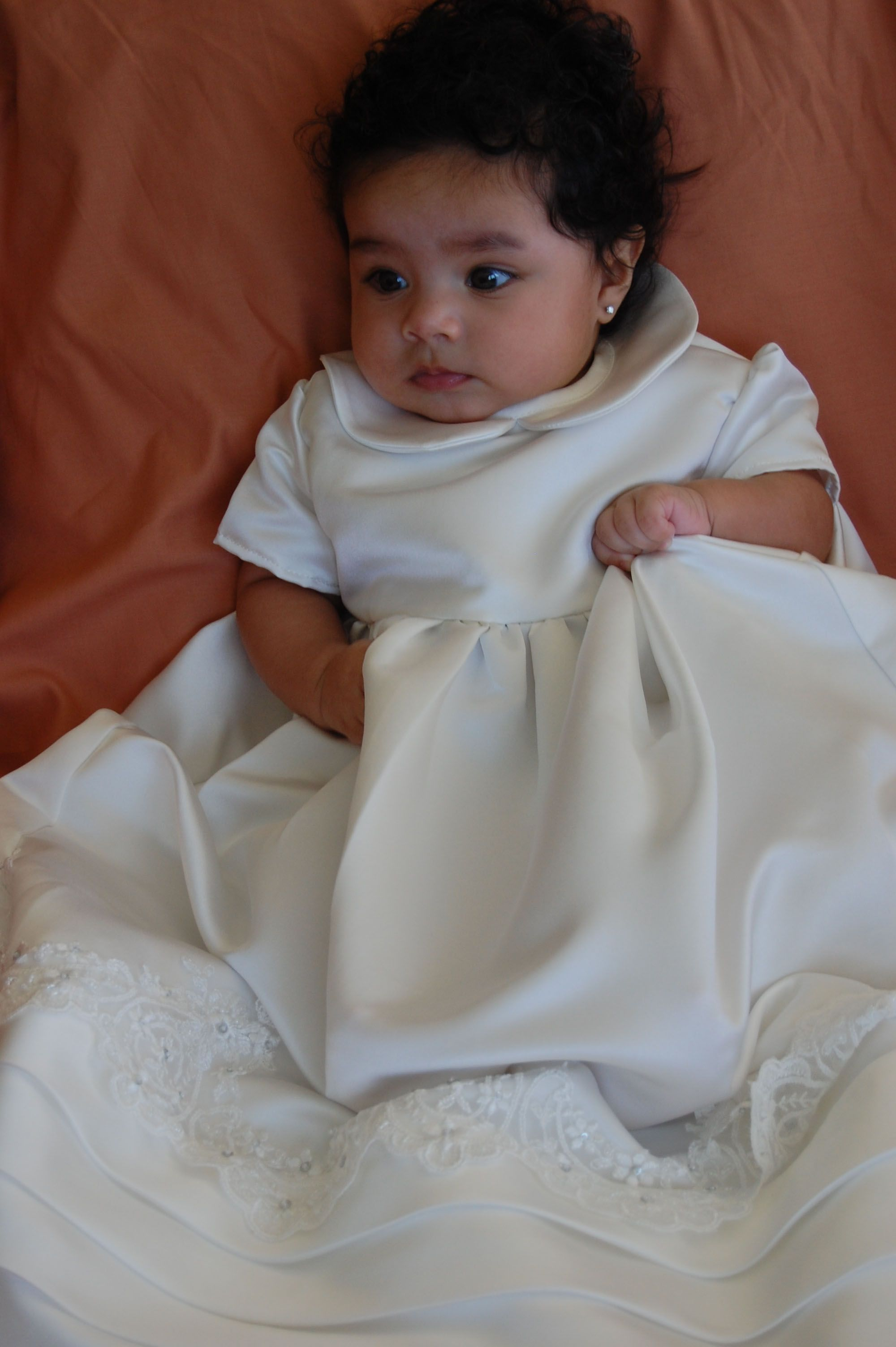 A christening gown made from your wedding dress clothing keepsakes