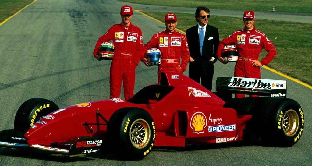 1996 Ferrari F310 Eddie Irvine Nicola Larini Luca Di Montezemolo