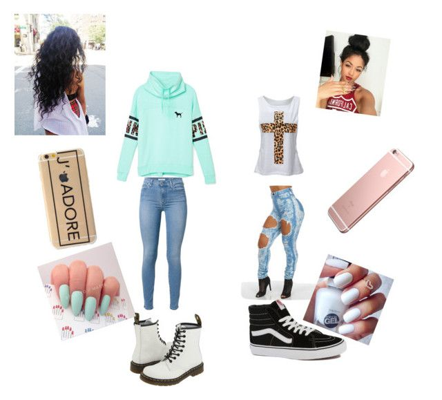 """Shopping"" by nikkiyass on Polyvore featuring Victoria's Secret PINK, 7 For All Mankind, Vans and Dr. Martens"
