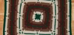 In-the-round Square Navajo Lap Blanket by Heather Tucker
