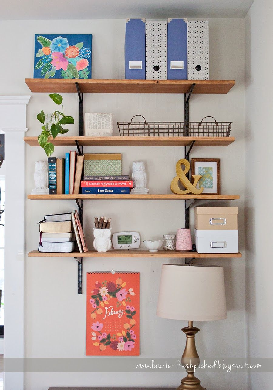 Diy Open Shelves On Metal Track In Bedroom Wall Mounted