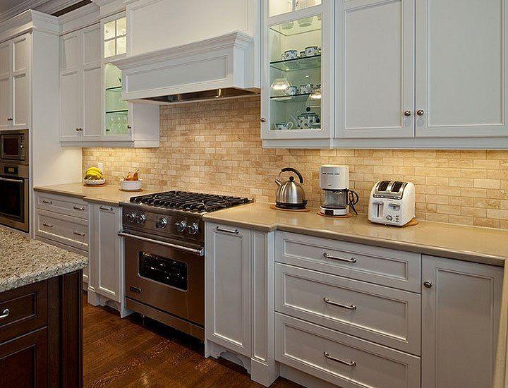 Lowes Ceramic Tile Backsplash Backsplash For White Cabinets Kitchen Cupboard Designs Backsplash Kitchen White Cabinets