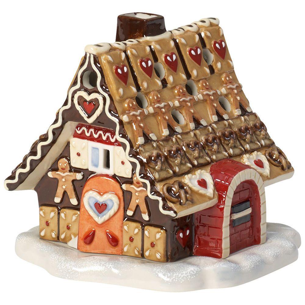 VILLEROY & BOCH Mini Christmas Village Lichthaus Lebkuchenhaus ...