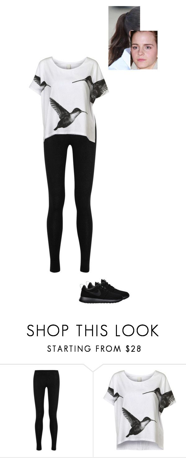 """Sem título #7248"" by gracebeckett on Polyvore featuring moda, Donna Karan, VILA e NIKE"