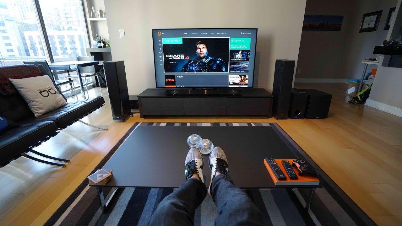 Ultimate 4k Tv Setup Tech Living Room Tour Living Room Setup