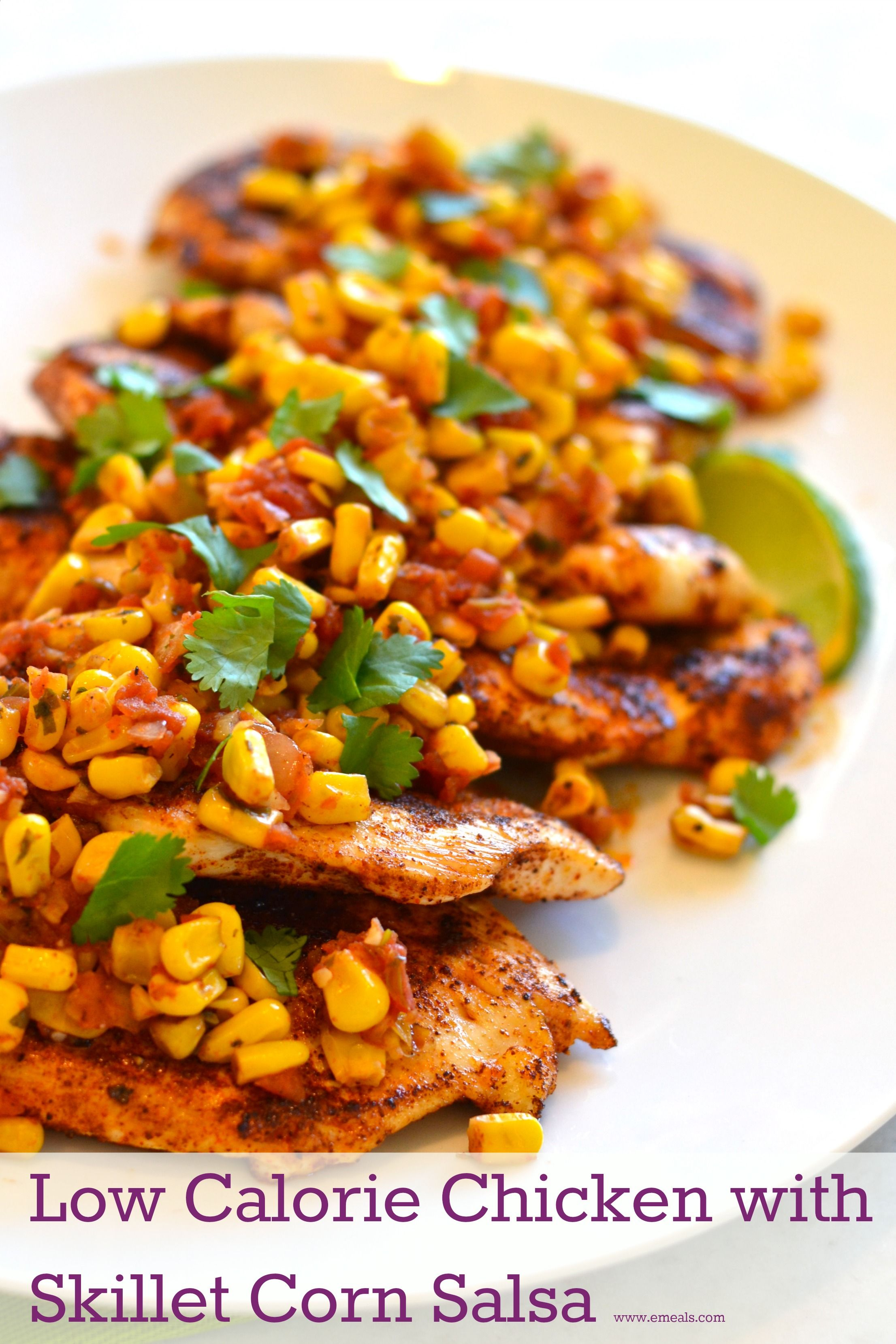 Spicy chicken with skillet corn salsa recipe skillet corn corn meals low calorie spicy chicken with skillet corn salsa forumfinder Gallery