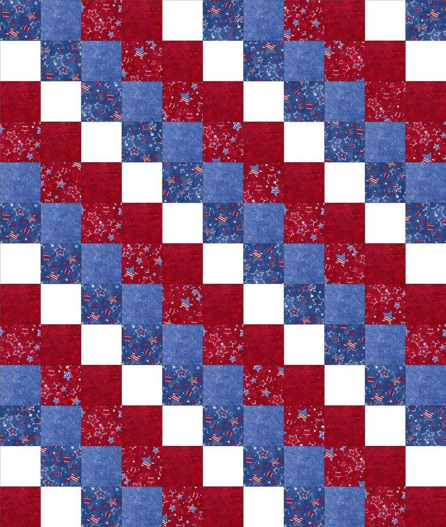 Americana Patchwork Beginner Quilt Top Kit Per-Cut – Quilt Kit Shop
