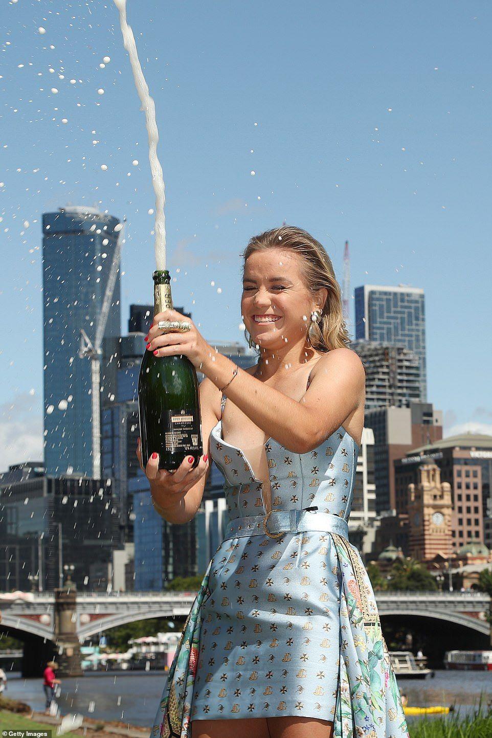 Sofia Kenin Pops Champagne After Winning Australian Open In 2020 Photoshoot Australian Open Anna Kournikova