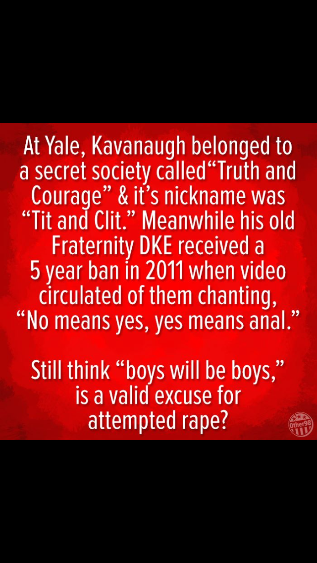 Filthy pigs. Let's be very clear about his lies under oath concerning his  sexist demeaning