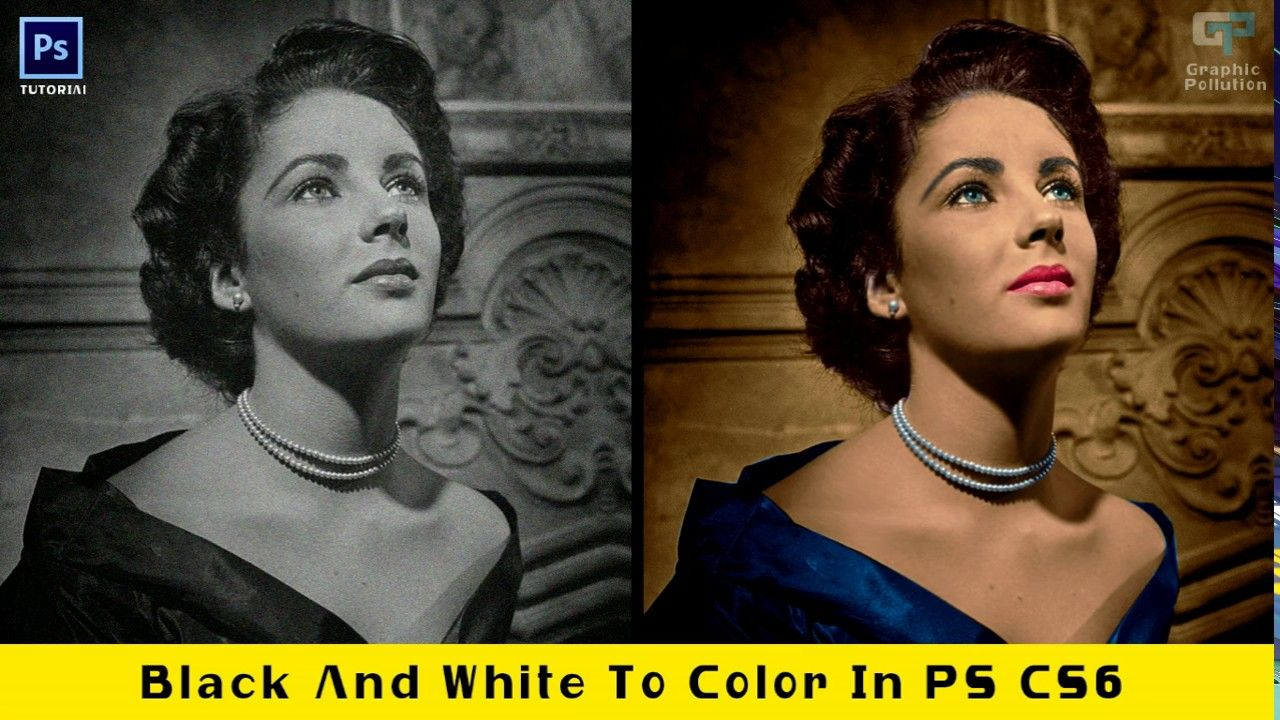 How to change black and white image into color in photoshop tutorial