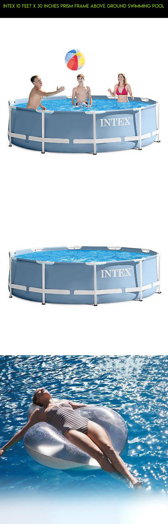 Intex 10 Feet x 30 Inches Prism Frame Above Ground Swimming Pool ...
