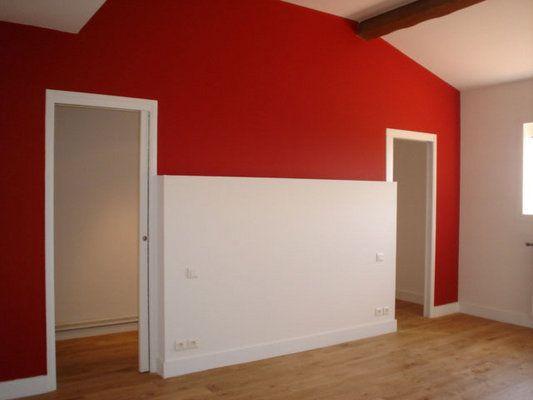Ralisation DUn Mur Rouge En Peinture  La Chaux Mat Cloison