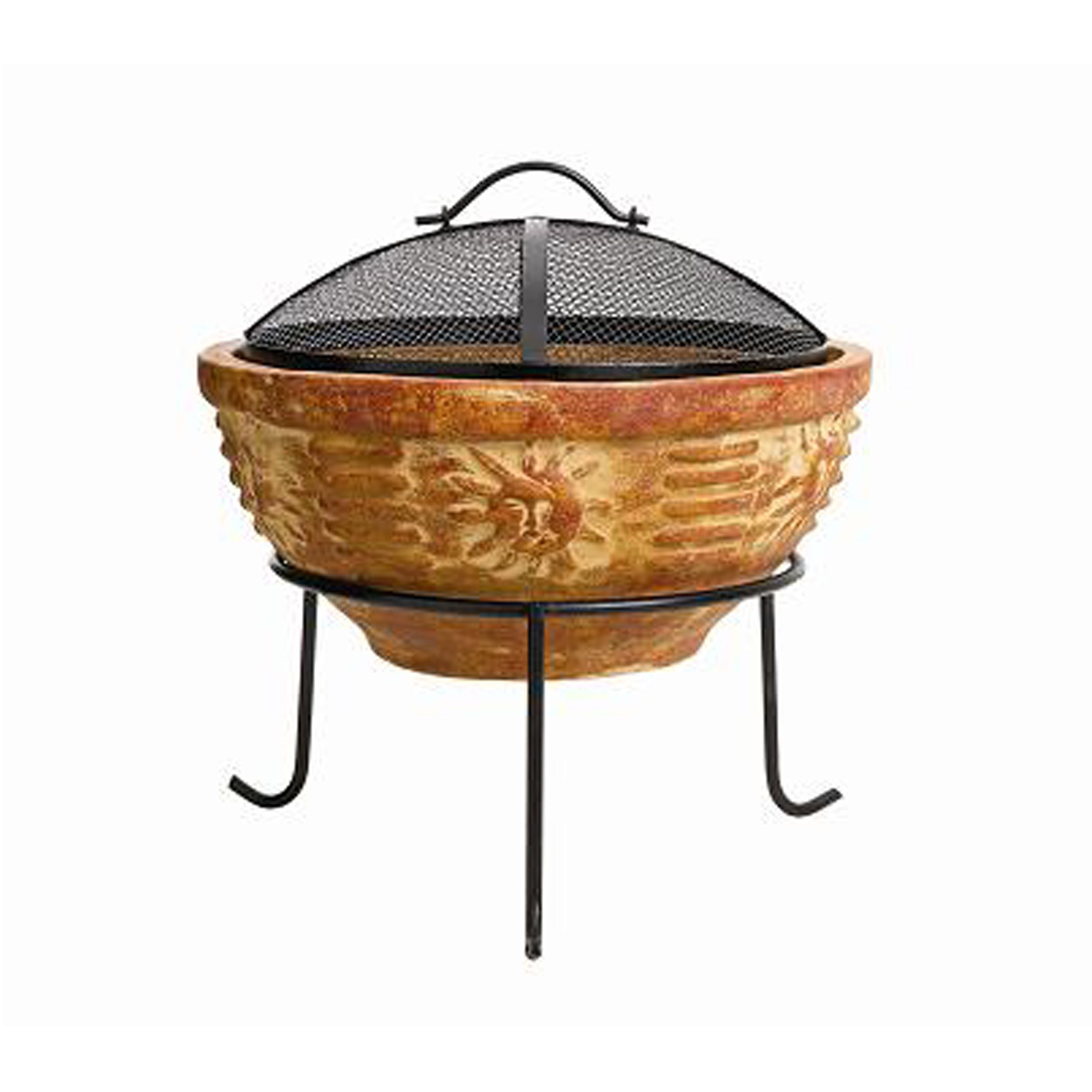 Chapala Sun God Fire Pit With Screen Bunnings Warehouse