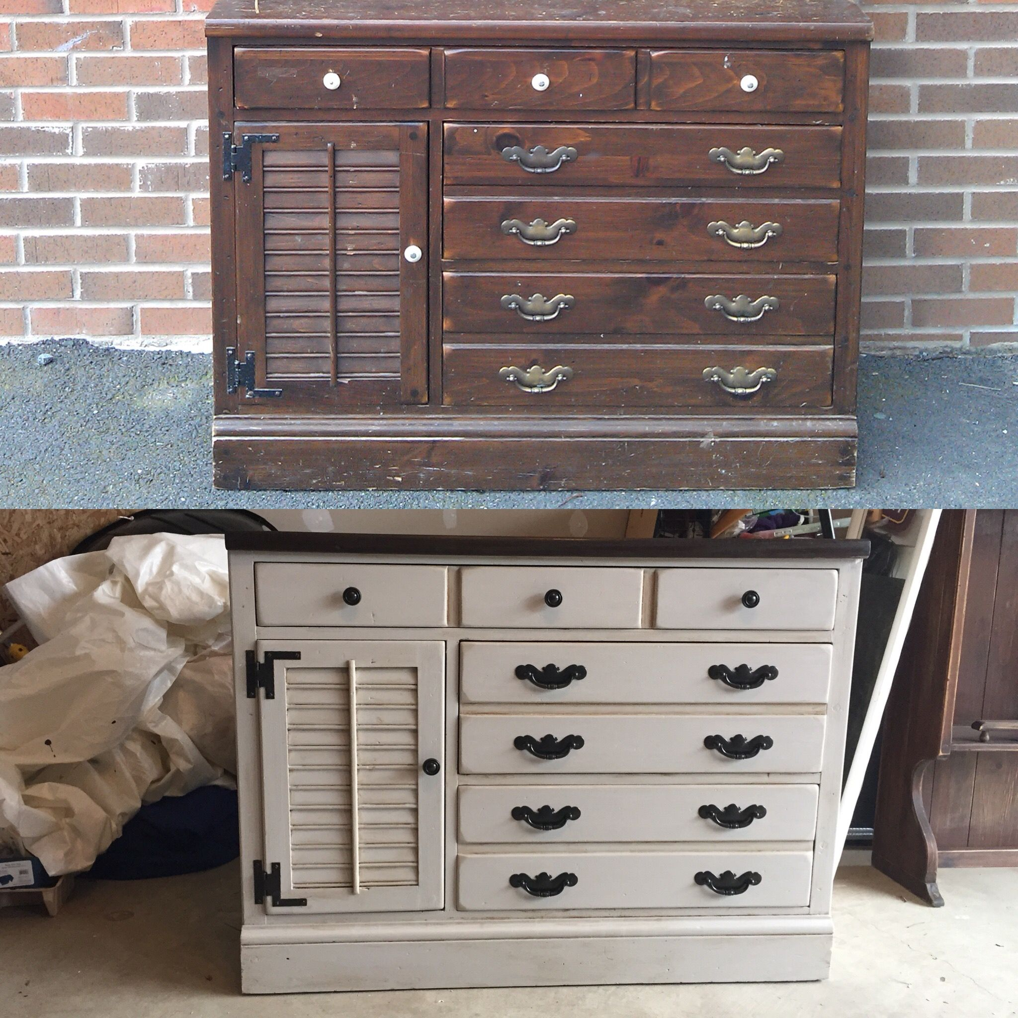 Vintage Ethan Allen Hutch Found By A Dumpster Used