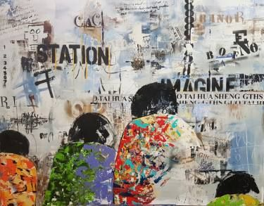 "Saatchi Art Artist jean-humbert savoldelli; Painting, ""IMAGINE"" #art"