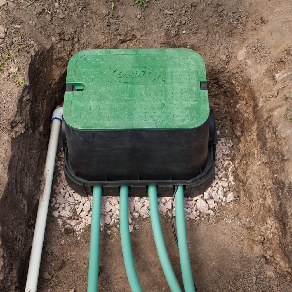 Orbit Valve Box Base 53230 The Home Depot In 2020 Sprinkler System Diy Sprinkler Diy Lawn Irrigation