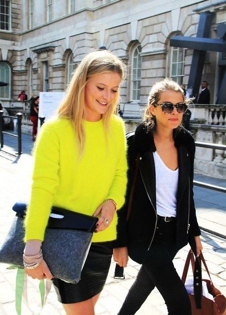 Yellow clutch Street Style | clutch-yellow-mohair-sweater ...