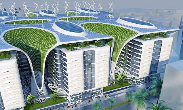 Architect Designs Complex Fitted With Wind Turbines And