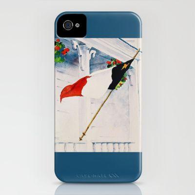 Fierté Acadienne iPhone Case by Denise Comeau - $35.00
