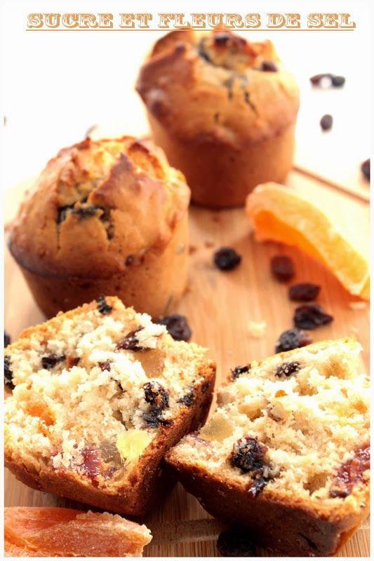 Sucre et Fleurs de Sel: Muffins au miel et fruits secs.
