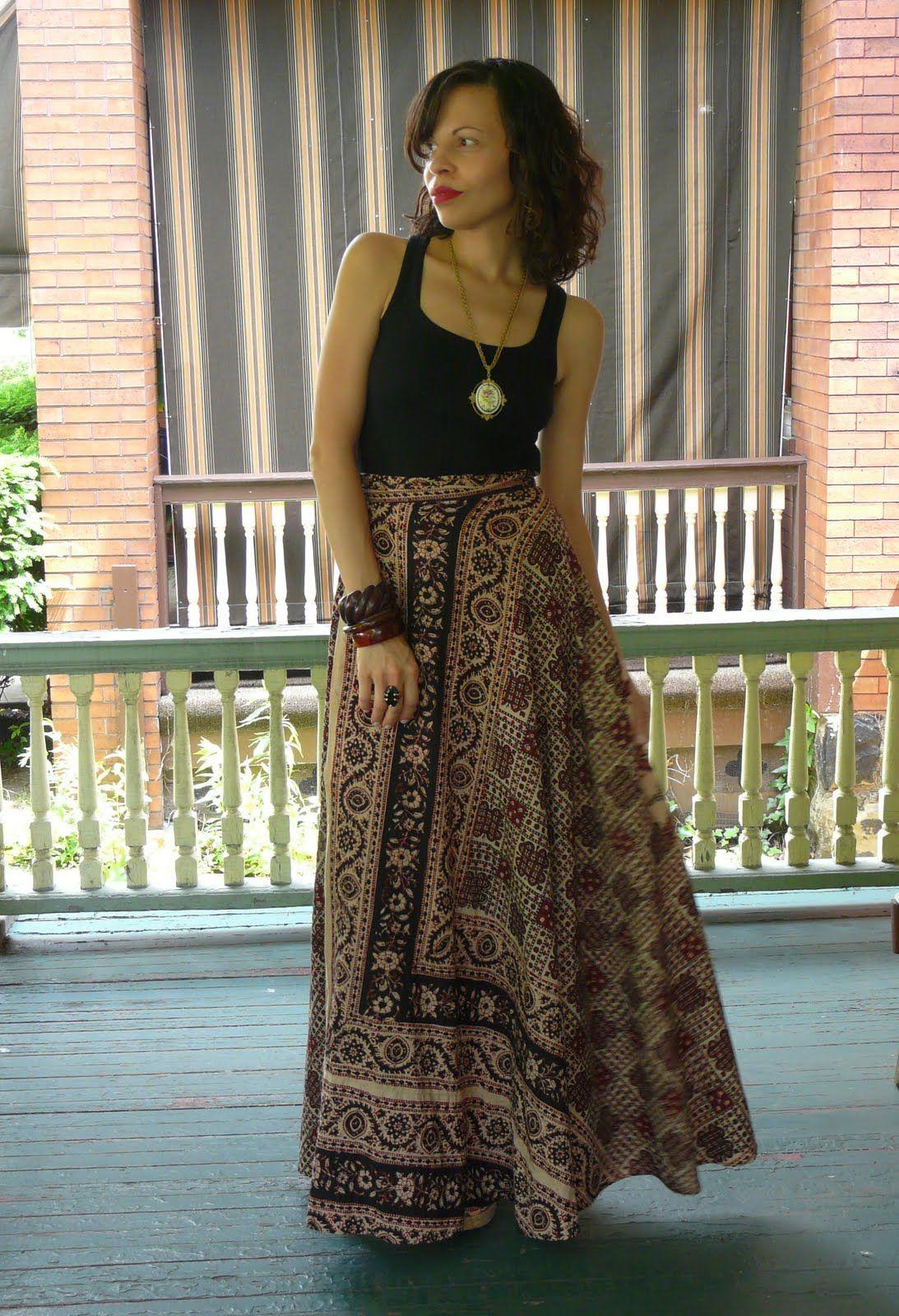 Batik Maxi Skirt Indian Wrap Lagelle The Art Of