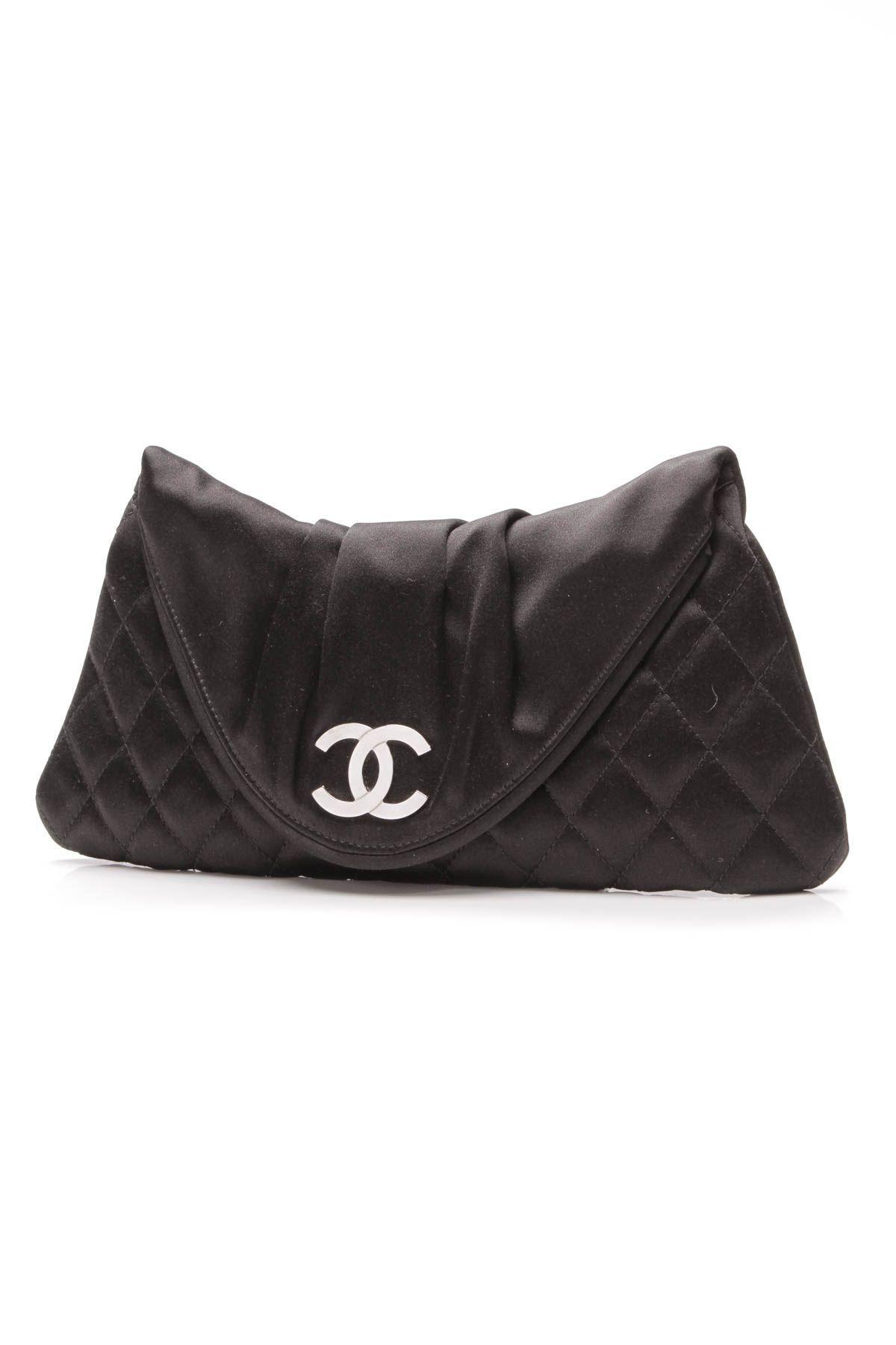 9a6a97bcaad4 Chanel Half Moon Clutch Bag  blackclutchbag