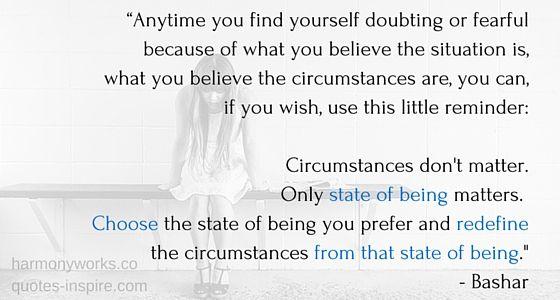 circumstances don't matter bashar quote