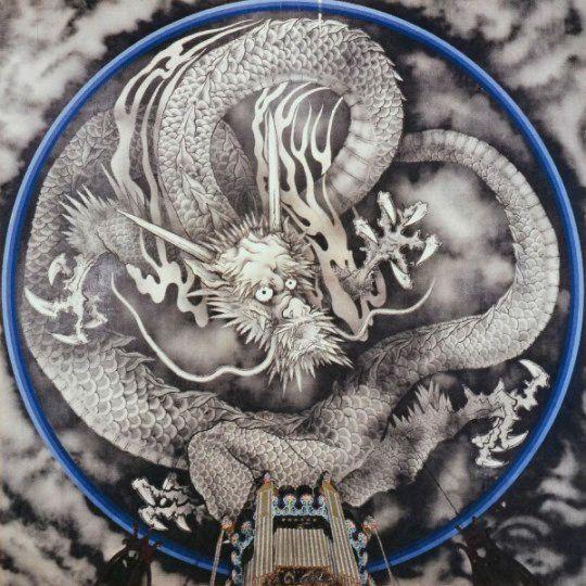龍の謂れとかたち 天龍寺の法堂の天井絵 雲龍図 日本の龍 龍