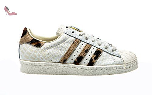 half off b7e39 27bc8 Adidas Originals SUPERSTAR 80s ANIMAL Chaussures Mode Sneakers Femme Blanc  - Chaussures adidas originals (