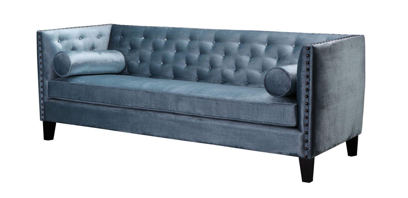 Henry Sofa Stoff Samt Blau Grau 3 Sitzer Couch Stoff Bezug Stoff Sofa In Mobel Amp Wohnen Mobel Sofas Amp Sessel Sofa Lounge Sofa Stoff Woody Mobel