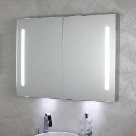 KOH-I-NOOR Riflessi LED Spiegelschrank mit seitlicher Beleuchtung - spiegelschrank fürs badezimmer