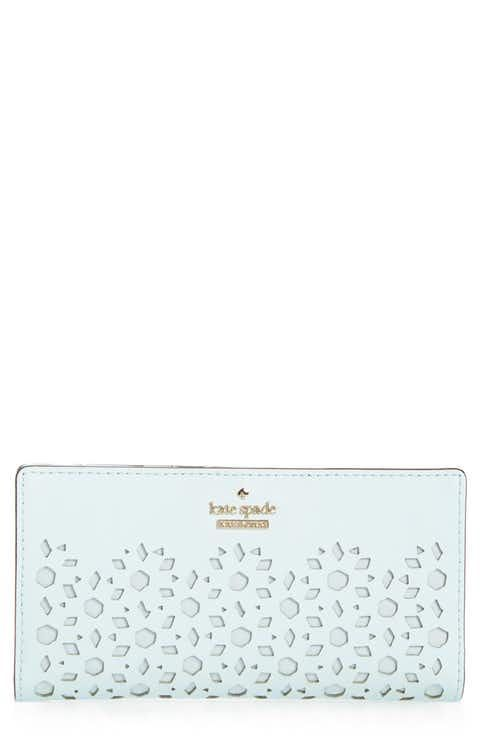 kate spade new york cameron street - stacy perforated leather wallet