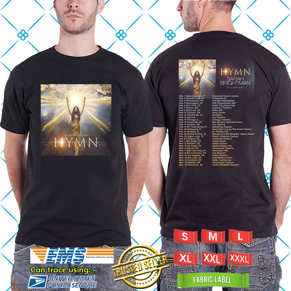 a5cb12216 2019 LIVE SARAH BRIGHTMAN HYMN TOUR BLACK TEE TWO SIDE MARJORIE #fashion # clothing #shoes #accessories #unisexclothingshoesaccs #unisexadultclothing  (ebay ...