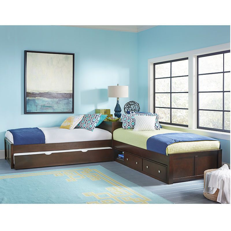 Possibilities L Shaped Bed With Double Storage House