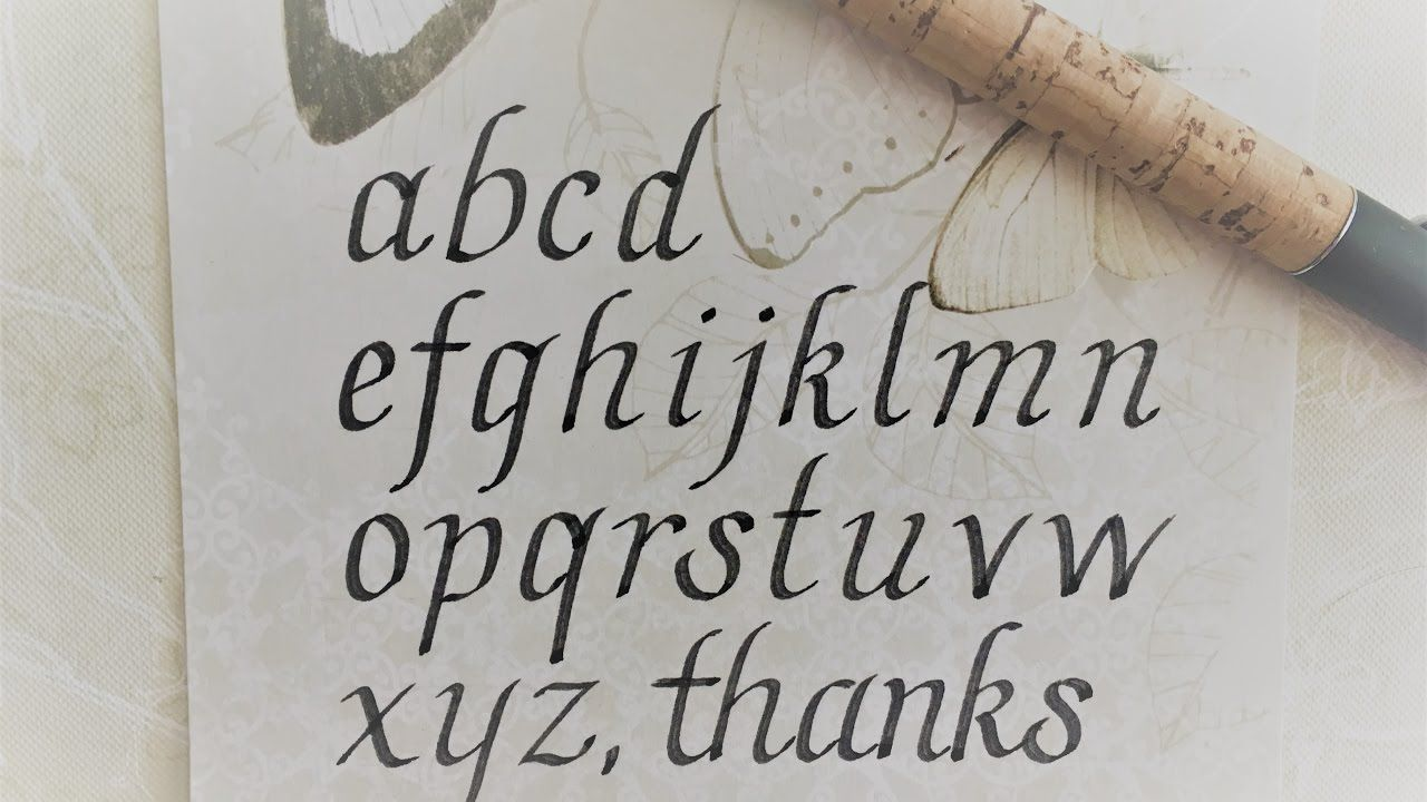 How to write in calligraphy italic letters for beginners