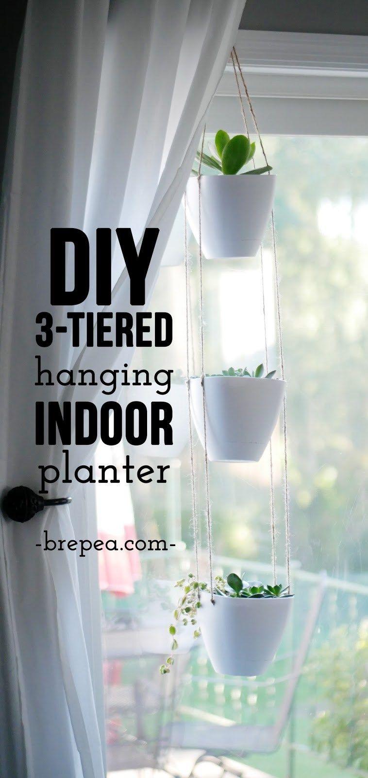 Diy 3 Tiered Hanging Indoor Planter Home Pinterest Diy Diy