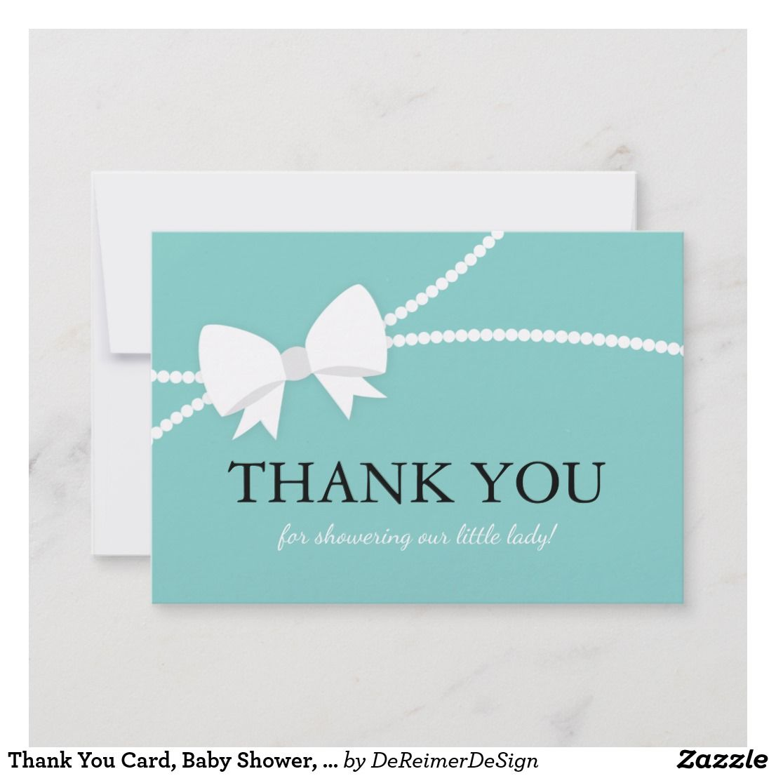 Thank You Card Baby Shower Tiffany Blue Thank You Cards Wedding