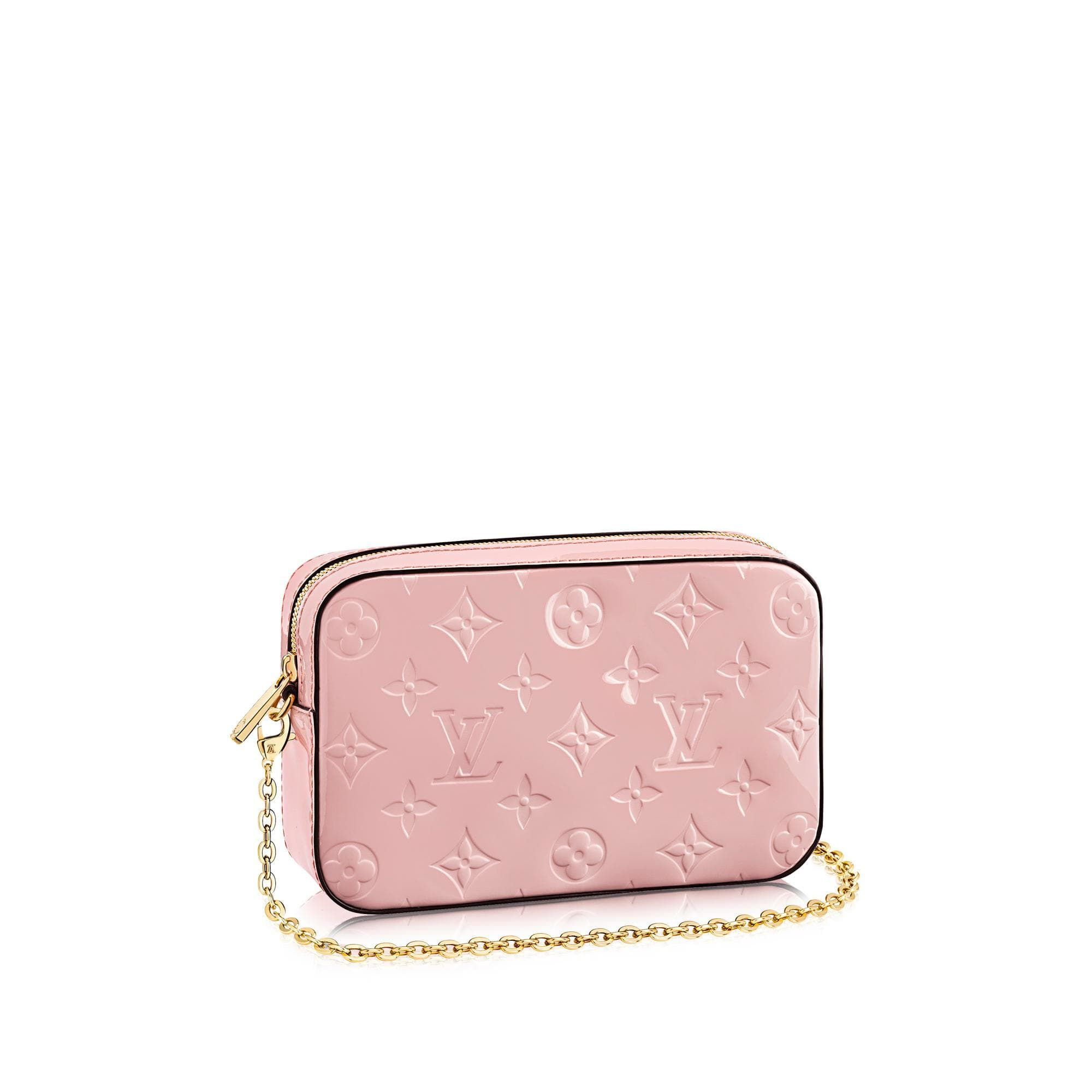 4055cb3238bf LV Camera Pouch - This adorable camera pouch in embossed Monogram patent  leather is a must-have that will make any look pop. Inspired by the  customized ...