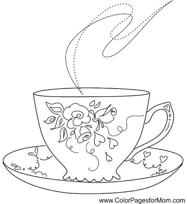 coffee coloring page   tea cup drawing tea cups