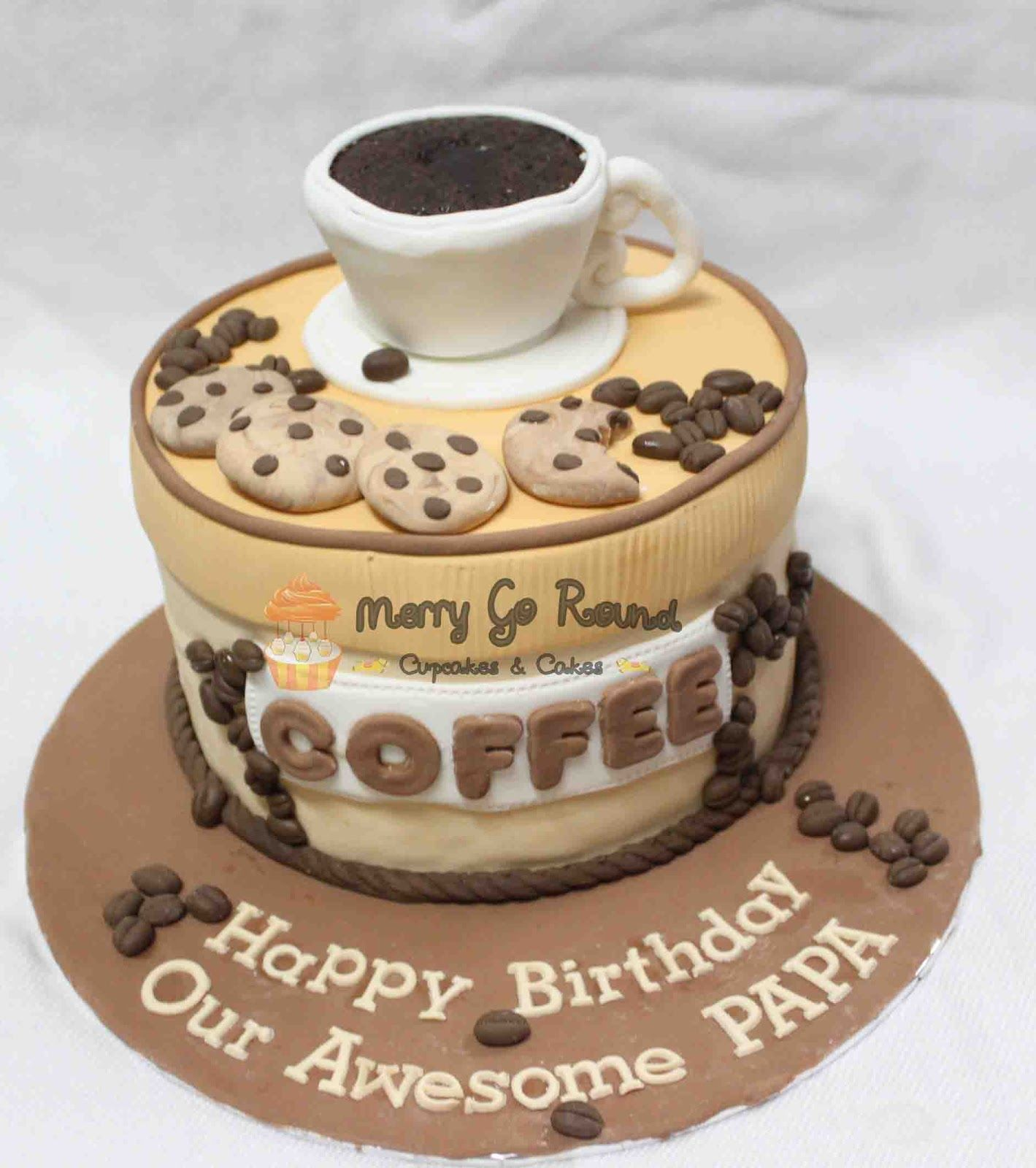 Incredible Coffee Wedding Cakes Merry Go Round Cupcakes Cakes Coffee Funny Birthday Cards Online Elaedamsfinfo