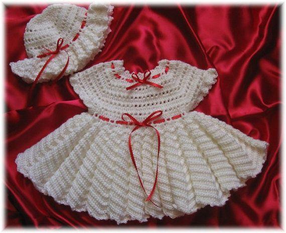 Crochet Pattern for KatieBelle  Baby Dress by littlebuddydolls, $4.99